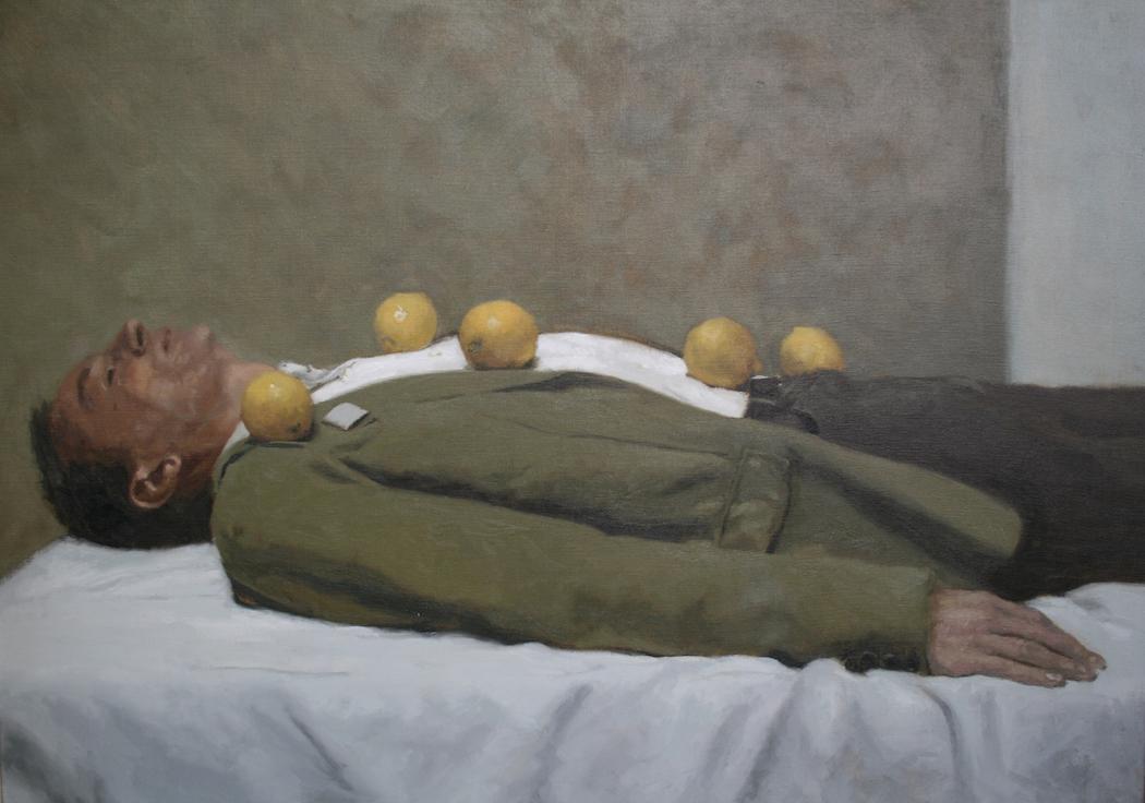 Rafel Bestard_Hombre tumbado con limones