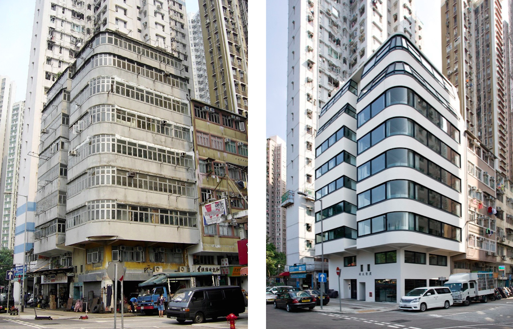 The tung fat building in hong kong before after for Hong kong architecture firms
