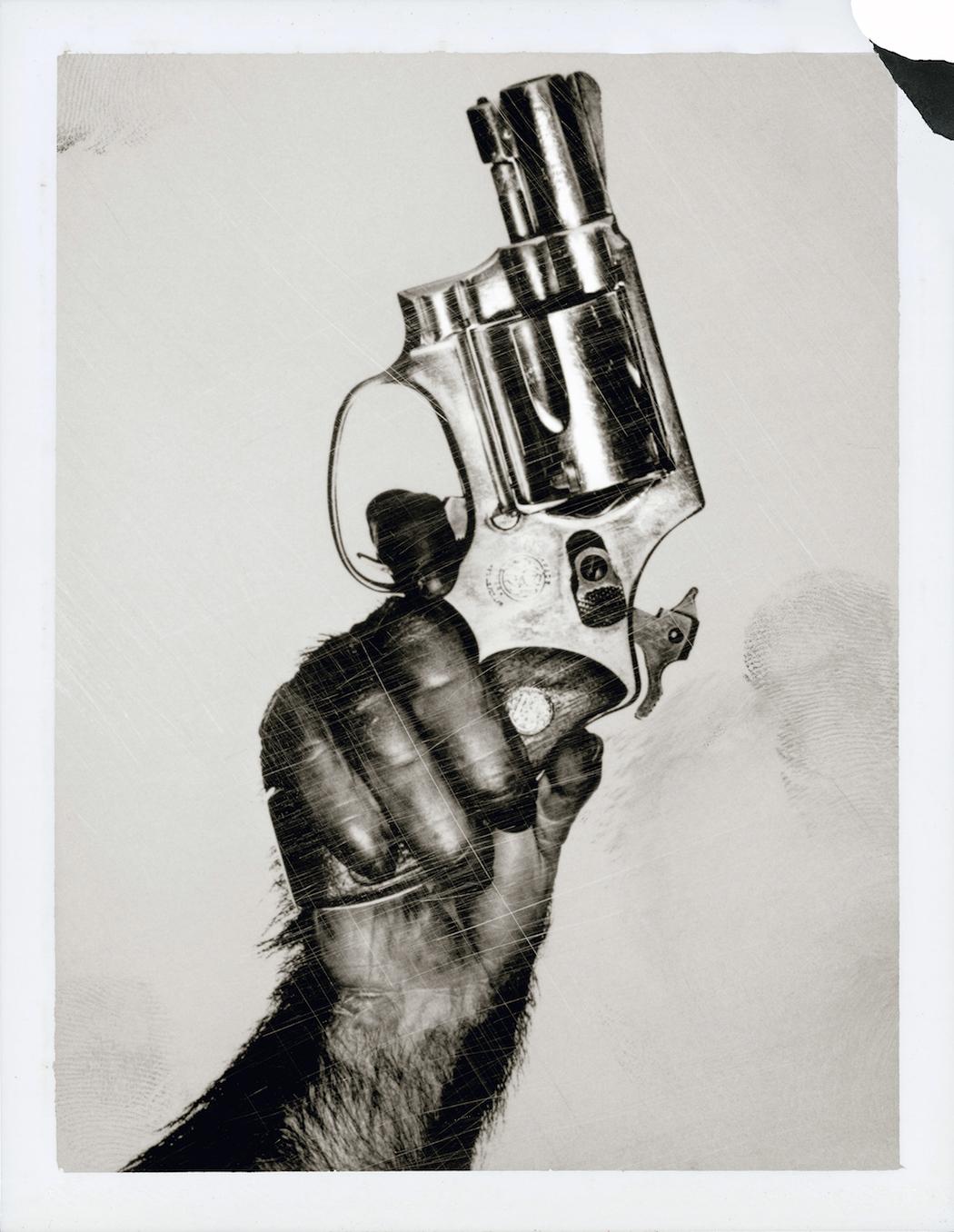WATSON_Monkey-with-Gun_New-York-City_1992_polaroid-1