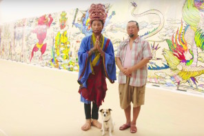 Pharrell Visits Takashi Murakami – The 500 Arhats