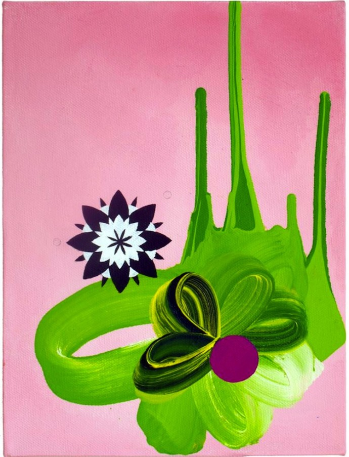 James Tebbutt, Miniature 3 (Pink and Green) Elusive Magazine