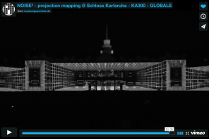 NOISE³ – projection mapping Schloss Karlsruhe