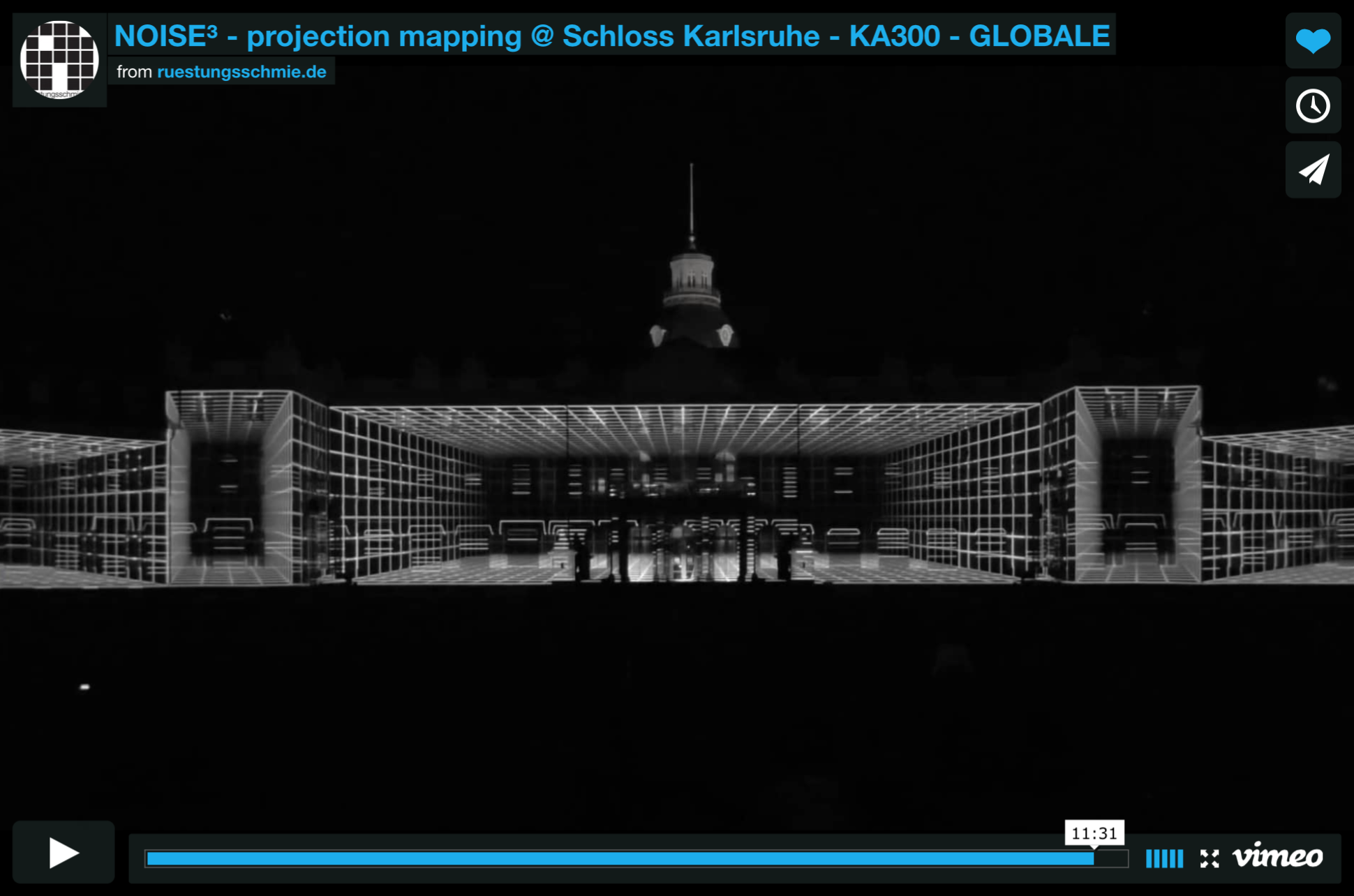 NOISE³ - projection mapping Schloss Karlsruhe