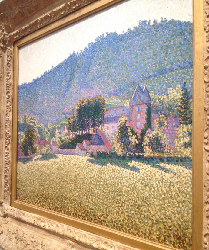 Paul Signac Comblat le Chateau la Valee detail Elusive Magzine