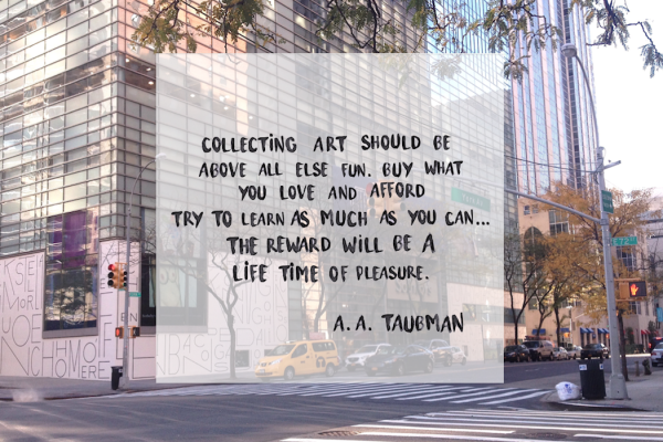 Taubman at Sotheby's New York ELUSIVE Magazine