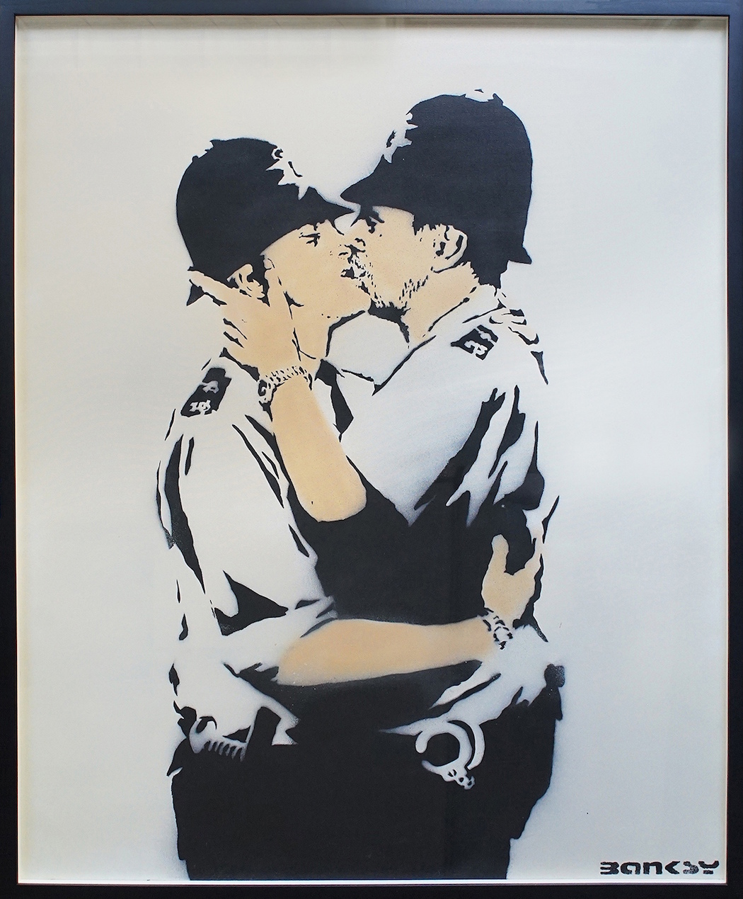 Lazarides, Banksy, Kissing Coppers, Acrylic and Spraypaint, Stencil on Canvas, 126.8x102cm, 2005