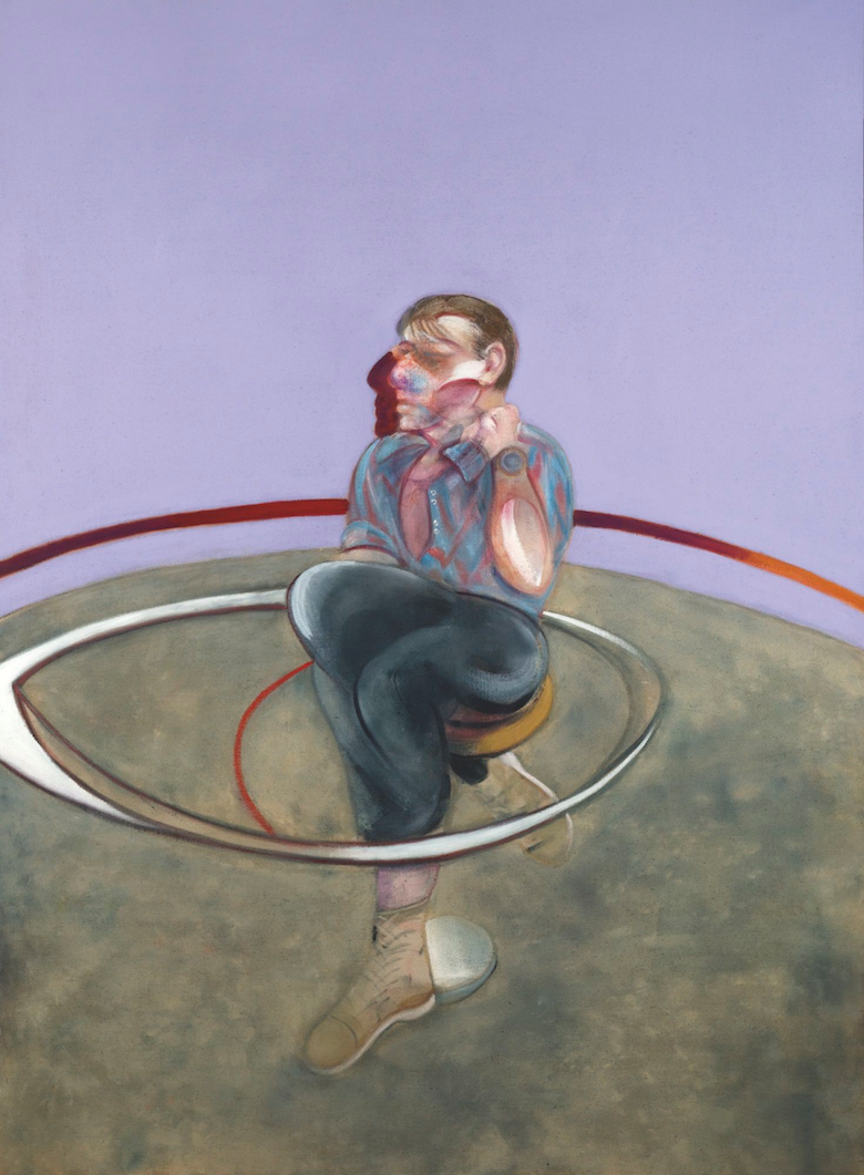 FRANCIS BACON, Self-Portrait, 1978, oil on canvas, 78 × 58 1/8 inches (198 × 147.5 cm). Private Collection. © The Estate of Francis Bacon. All rights reserved. / DACS, London / ARS, NY 2015. Photo by Rob McKeever.