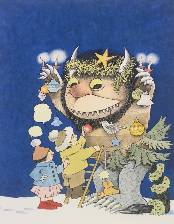 Maurice Sendak Where the Wild Things Are Dimitria Markou Elusive Magaizine Christmas Tree