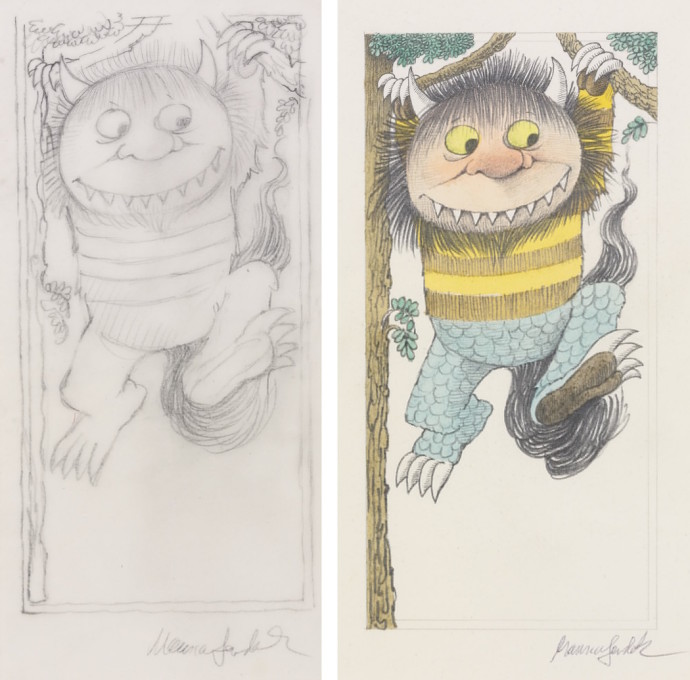 Maurice Sendak Where the Wild Things Are Dimitria Markou Elusive Magaizine Hanging Moishe