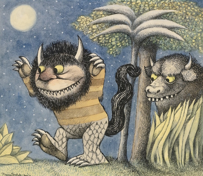 Maurice Sendak Where the Wild Things Are Dimitria Markou Elusive Magaizine Moishe and Bernard