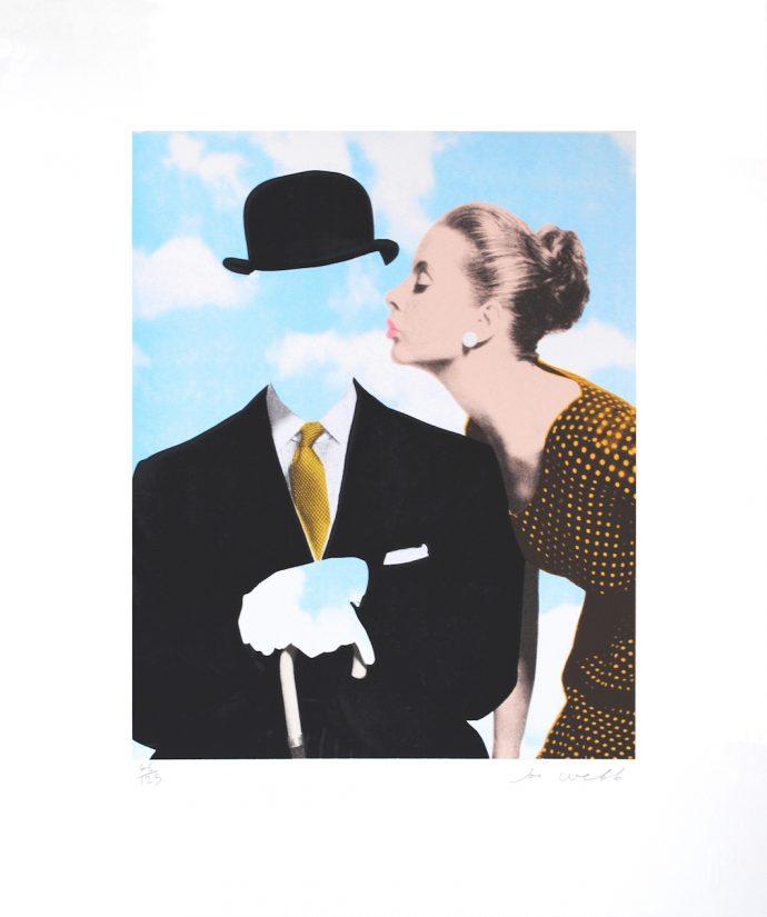 Kissing Magritte II Joe Webb Dimitria Markou Elusive Magazine