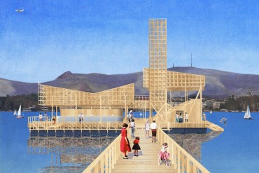 Rendering of Pavillon of Reflections © ETH Studio Emerson