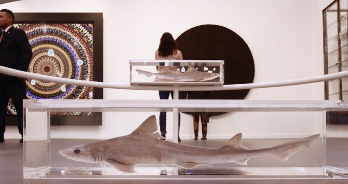 Frieze 2016 New York Dimitria Markou Elusive Magazine Damian Hirst shark