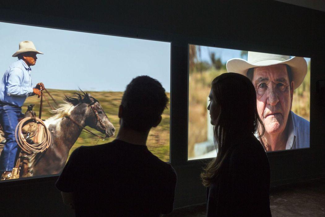 Ausstellungsansicht Cinéma mon amour. Kino in der Kunst (22.1. – 17.4.2017) Aargauer Kunsthaus, Aarau Foto- René Rötheli, Baden 4