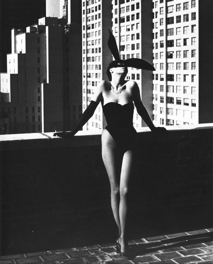 Helmut Newton Elsa Peretti in a Bunny costume ELUSIVE Magazine